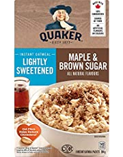 QUAKER Lightly Sweetened Maple & Brown Sugar Family Pack Instant Oatmeal (8 Packets x 38 g), 304 g