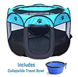 ZuHucpts Indoor Outdoor Dog Pet Playpen / Portable Foldable Puppy Cat Exercise Pen