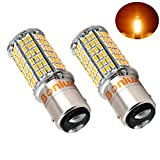 1157 led bulb rv - Bonlux 5W LED 1157 Ba15d Double Contact Bayonet Bulb 10-30V DC Warm White Double Connector Parallel Pin 1076 1130 1176 1142 LED 50W Replacement Bulb for Car RV Camper Lighting (Pack of 2)