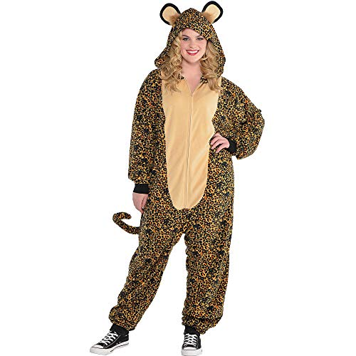 Leopard Zipster Suit - Adult Plus (Up to 6'4