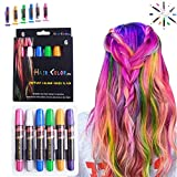 Hair Chalk Pens, LAWOHO 6 Colors Temporary Hair Chalks Salon, Non-Toxic Washable Hair Dye Colors for Halloween Christmas Birthday Party, Cosplay, Concert, Gifts for Girls Kids & Adults …