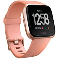 Fitbit Versa Smartwatch with Small & Large Bands (Peach/Rose Gold Aluminium)