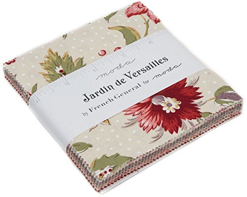Jardin de Versailles Charm Pack by French General; 42-5