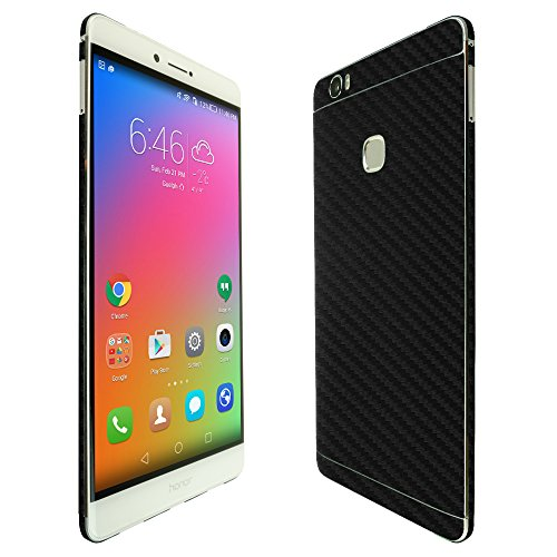 Price comparison product image Skinomi TechSkin - Huawei Honor Note 8 Screen Protector + Carbon Fiber Full Body Skin / Front & Back Wrap Clear Film / Ultra HD and Anti-Bubble Shield