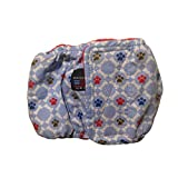 Male Dog Diaper - Made in USA - Paws and Bones Washable Belly Band Male Wrap, L for Territorial Marking, Excitable Peeing and Urinary Incontinence