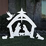 EasyGo Large Outdoor Nativity Scene - Large Christmas Yard Decoration Set