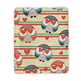 My Little Nest Warm Throw Blanket Owl Lightweight MicrofiberSoft Blanket Everyday Use for Bed Couch Sofa 50'' x 60''
