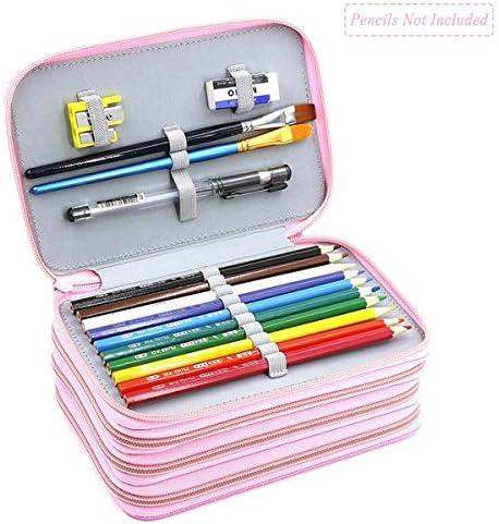 Estuche para lápices | Kawaii 72 portatodos 4 capas Oxford bolsas de lápices de colores de gran capacidad portátil acuarela estuche suministros arte estudiantes | por EGALIVE: Amazon.es: Oficina y papelería