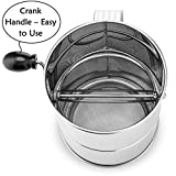 Flour Sifter 8 Cup Stainless Steel Rotary Hand