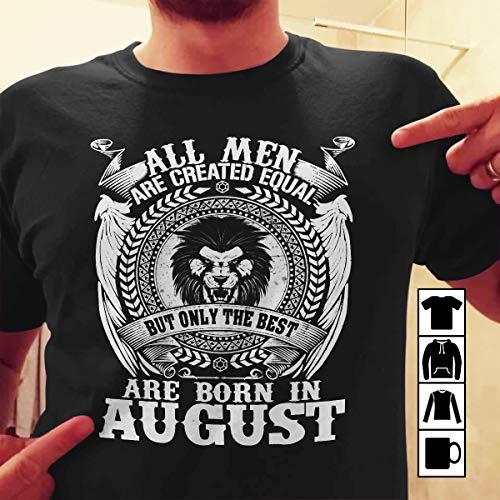 T Shirt Men The Best Was Born In August Zodiac Leo