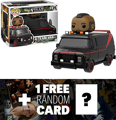 A-Team Van w/ B.A. Baracus: Funko POP! Rides x The A-Team Vinyl Figure + 1 FREE American TV Themed Trading Card Bundle (110013)