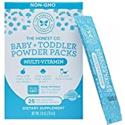 The Honest Company Baby & Toddler Multivitamin Powder Packs, 25 Count