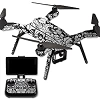 MightySkins Protective Vinyl Skin Decal for 3DR Solo Drone Quadcopter wrap cover sticker skins Floral Retro