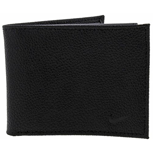 Nike Mens Leather Billfold Bifold Wallet Black O/S