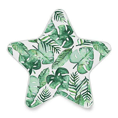 Tropical Jungle Summer Palm Hipster Plug-in LED Night Light with Dusk-to-Dawn Sensor Star Shape -