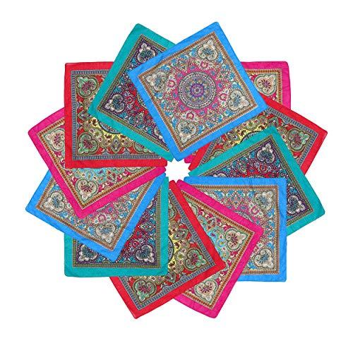 ba knife 12Pcs Cotton Bandanas Multipurpose Square Handkerchiefs Headbands -