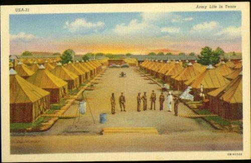 (U S Army Training Tent Life postcard)