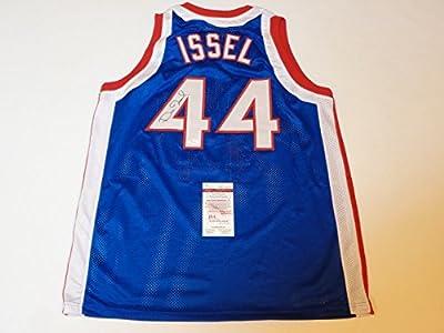 DAN ISSEL signed autographed Kentucky Colonels blue ABA Jersey JSA Witness