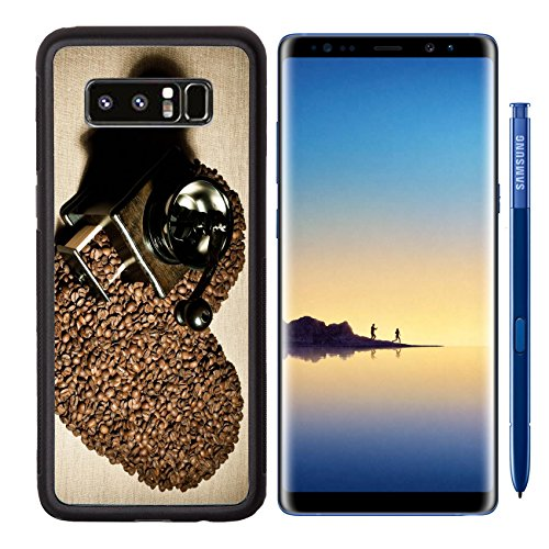 Liili Premium Samsung Galaxy Note8 Aluminum Backplate Bumper Snap Case IMAGE ID: 17227187 still life of the wooden old coffee grinder stand in great plenty of coffee in grains