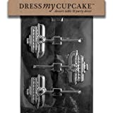 Dress My Cupcake DMCN029SET Chocolate Candy Mold, Steamboat, Set of 6