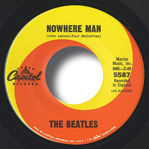 The Beatles Vinyl Records: Nowhere Man, 1966 Rare USA Mono ORIGINAL NEW Old Store Stock 45, Near MINT! Capitol 5587 (SIDE 2: What Goes On), Includes