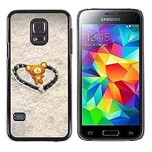 Paccase / SLIM PC / Aliminium Casa Carcasa Funda Case Cover - Love Cute Heart Bear - Samsung Galaxy S5 Mini, SM-G800, NOT S5 REGULAR!