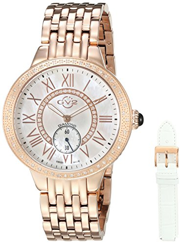 GV2-by-Gevril-Womens-Astor-MOP-diamonds-Swiss-Quartz-Stainless-Steel-Casual-Watch-ColorRose-Gold-Toned-Model-9108