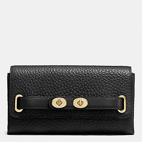 Blake Wallet in Bubble Leather (Coach F53425) Imitation Gold/black by Coach (Image #2)