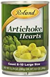 Roland Foods Artichoke Hearts, Large, 13.75 Ounce (Pack of 12)