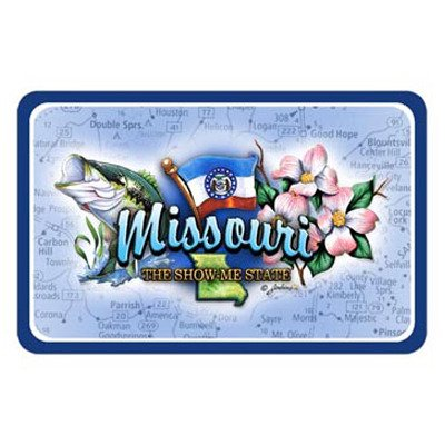 Illinois To Missouri Souvenirs Missouri Playing Cards Elements 24 Display Unit (Pack Of 96) Pack Of 96 Pcs by DDI