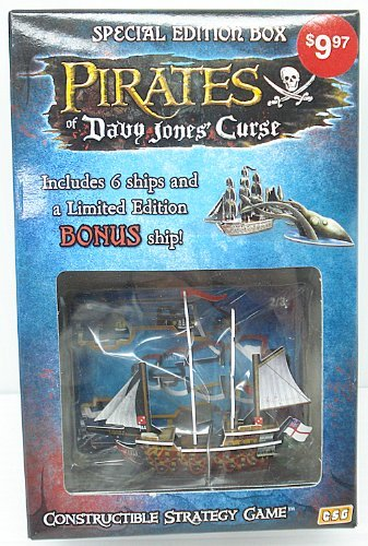 (Pirates of Davy Jones Curse Constructible Strategy Game Special Edition Box with HMS Richards Bonus Ship by WizKids)