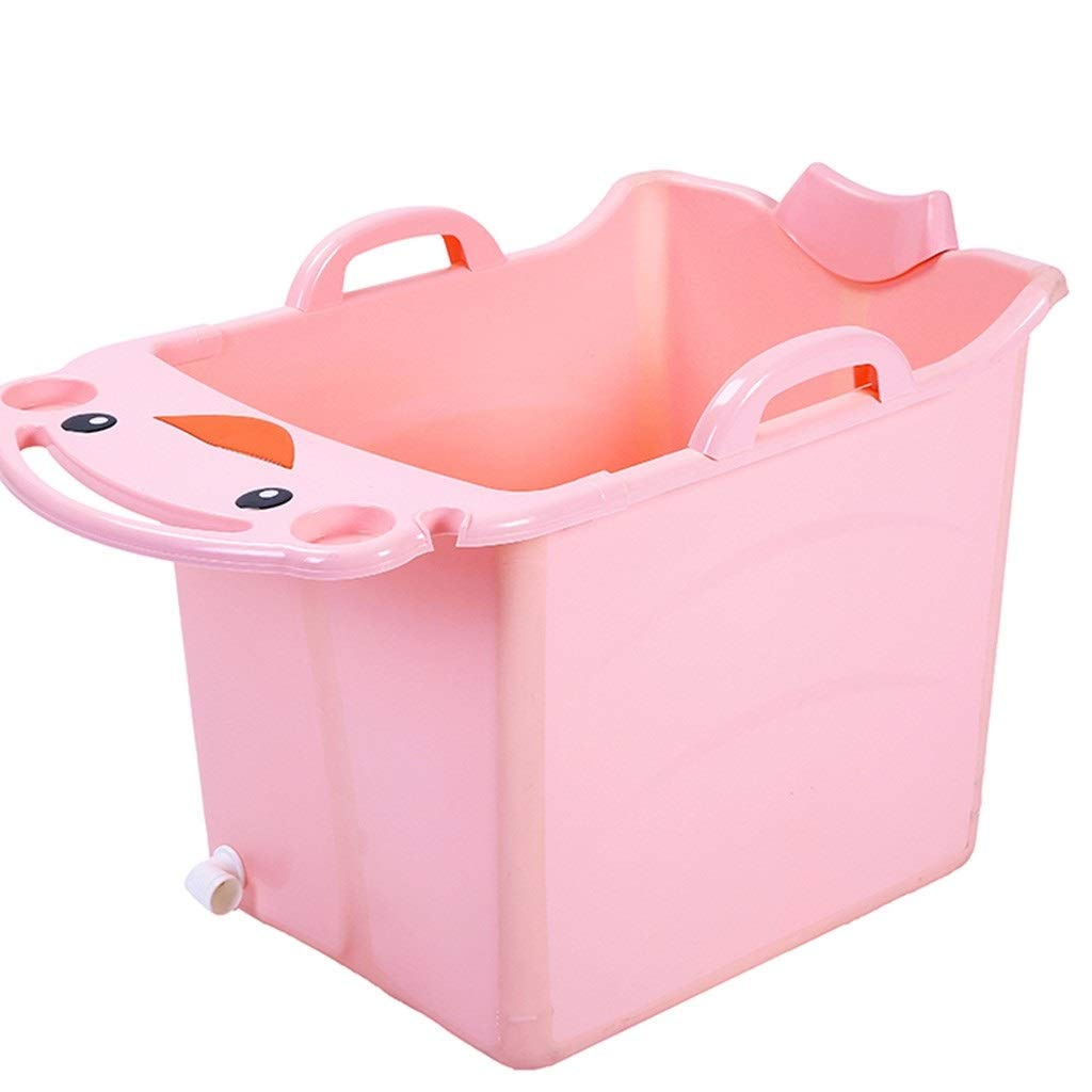 Drop-In Bathtubs Bathtub Bath Tub Collapsible Children's Bath Tub Bath Tub Adult Kid Tub Folding Does Not Take Up Space Household Bathroom Bath Tub (Color : Pink, Size : 734550CM)
