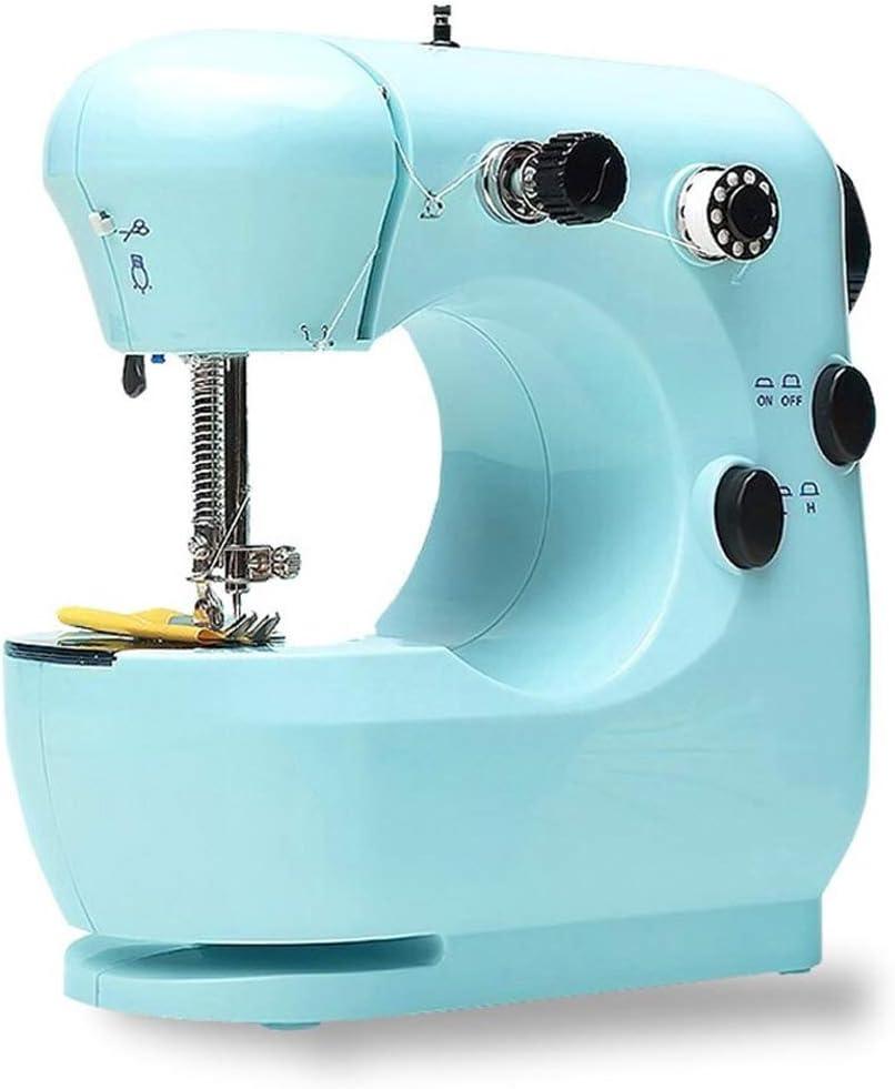 ZHongWei-- Máquina de Coser, eléctrico multifunción de Escritorio máquina de Coser, Máquina de Coser doméstica pequeña, Fuerte y Duradero 9W (Color : A)