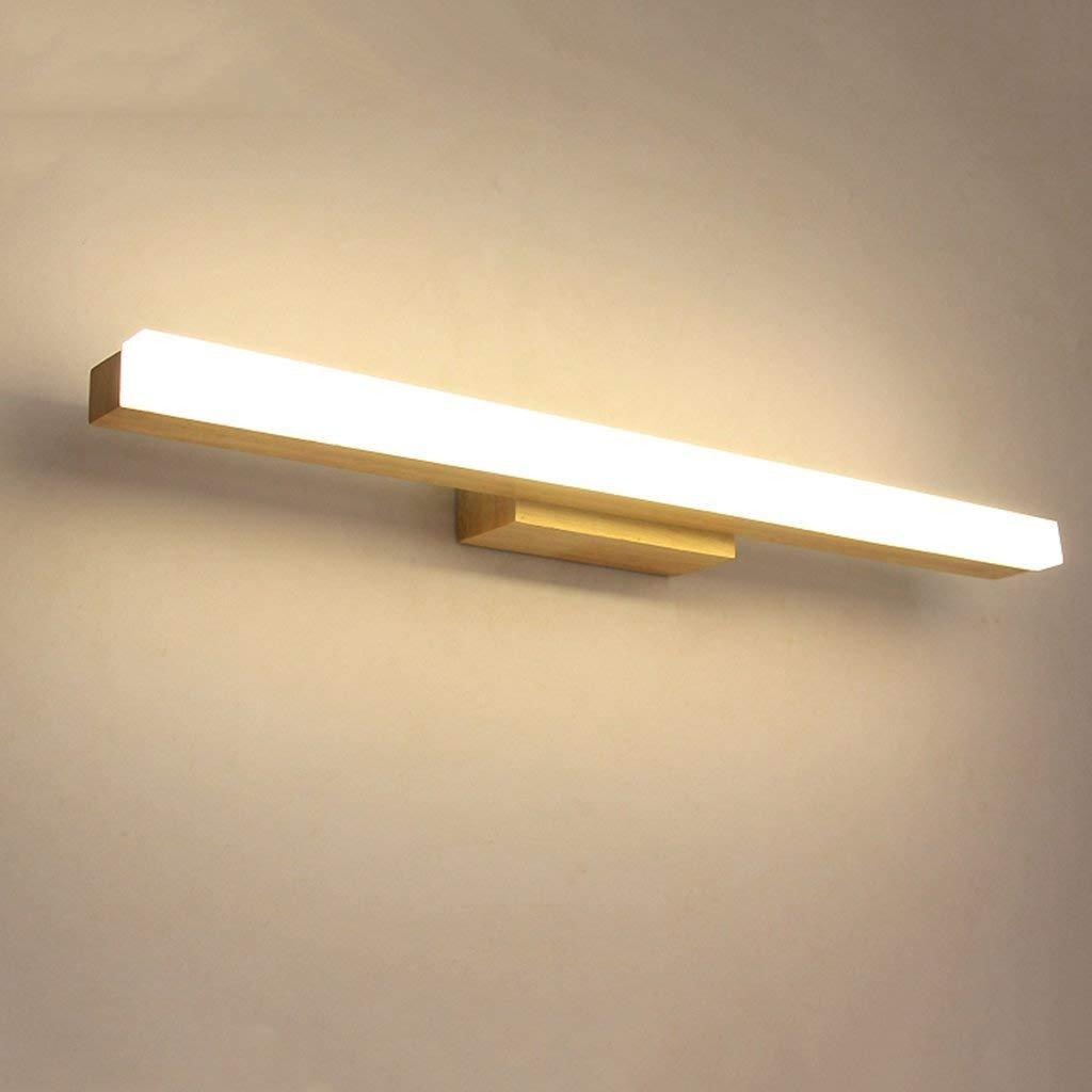 JBP Maß Spiegel Licht Badezimmer Licht LED Massivholz Spiegel Frontspiegel Schrank Licht Make-Up Gang Licht Wasserdicht Nebel - JBP13,Weißlight,14W 80CM