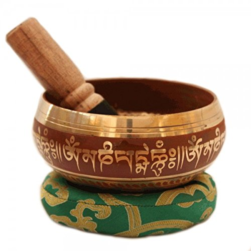 - Tibetan Singing Bowl Meditation Copper and Silver Buddhist Décor 4 Inch