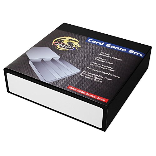 3 Row - Black with White Game Card Box by BCW (Image #1)
