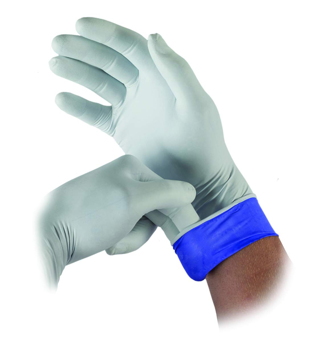 Ansell Small White/Blue Microflex LIFESTAR EC 5.5 mil Nitrile Disposable Gloves (100 Gloves Per Box) (Pack Quantity 10) by Ansell (Image #1)