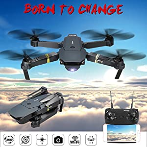Cooligg Drone For Beginners S168 2MP 720P WIFI FPV Foldable Arm Selfie Drone 2.4G 4CH RC Quadcopter by cooligg