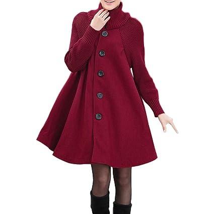 ❤ Abrigo de suéter de Capa para Mujer, Camisa de Manga Larga con Botones, tamaño sólido, Bolsillo Suelto, Chaqueta Informal Absolute: Amazon.es: Ropa y ...