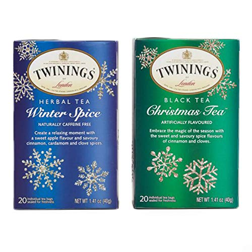 Twining Tea Bags Bundle Set – Christmas-Tea and Winter Spice | Perfect for Holidays and Winter Season | Taste that Soothes the Senses | Natural ()
