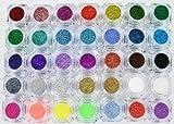 Zink Color Multi Purpose Cosmetics Glitter Brilliance 34 Colors Full Set
