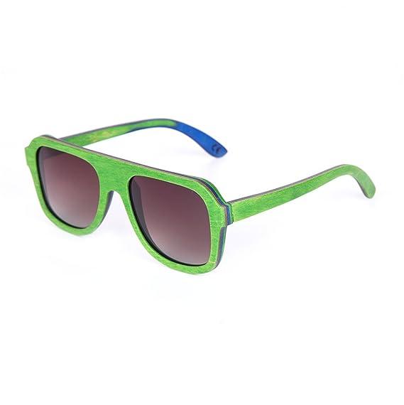 1 Pieza Gafas De Sol Polarizadas Madera UV400 Con Estuche De Gafas Para Hombres Y Mujeres