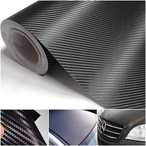 1 Sheet Winch (1 Sheet Primo Popular 3D Carbon Fiber Car Sticker Protector Cover Waterproof Roll Vinyl Decor Size 12