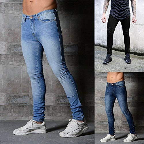 Pantalones Fit Stretch Ropa Straight Pencil Skinny Jeans Hombre Hombre Denim Pants Jeans Pants Slim Jeans Negro R Hombre Pants AwPnT