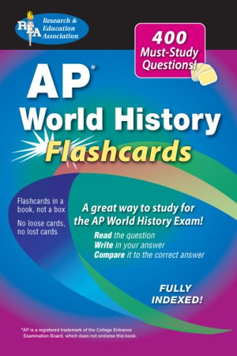 AP World History Flashcard Book (REA) (Advanced Placement (AP) Test Preparation)