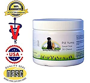 Pill Yums ~ Tasty Pocket Treat to Hide Your Pet's Medication ~ Simply Insert Pill or Capsule in Chewy Hole, Pinch the Ends Closed and Give As a Treat to Your Dog or Puppy ~ Recommended by Veterinarians Small 30 Count