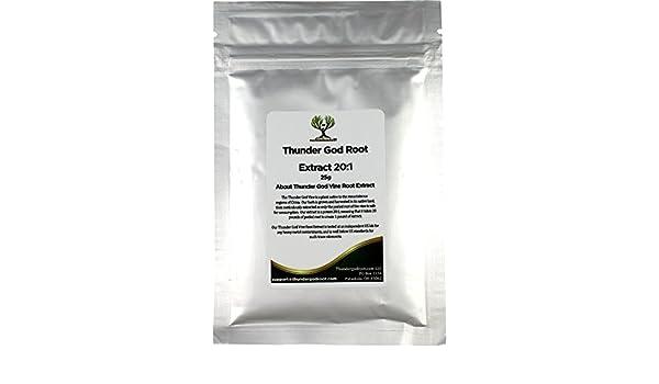 ThunderGodRoot.com Extracto de raíz de lei gong teng, 20:1, Tripterygium Wilfordii: Amazon.es: Hogar
