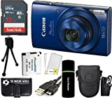 Cheap Canon PowerShot ELPH 190 is 20.2MP 10x Zoom Wi-Fi Digital Camera (Blue) + SanDisk 32GB Card + Reader + Spare Battery + Case + Accessory Bundle