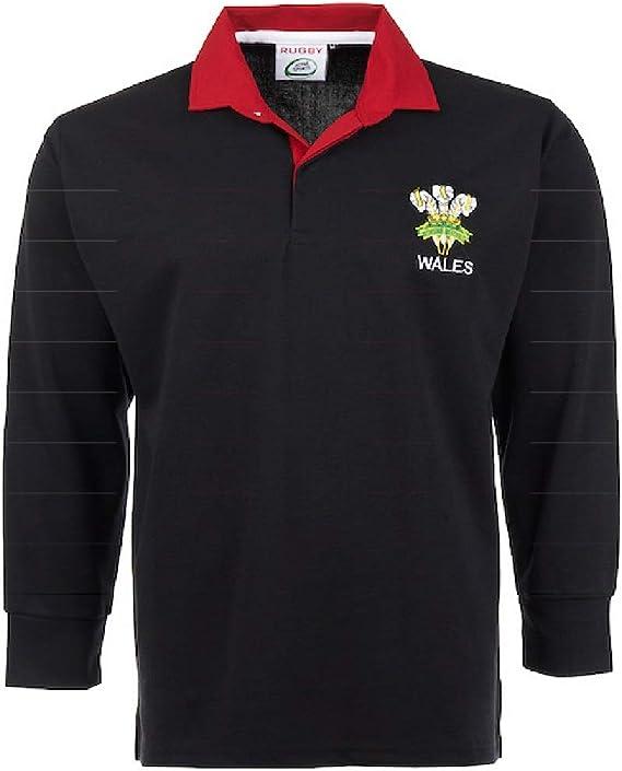 Rugby Nations Rugby Camicia a maniche lunghe con dettaglio ricamo