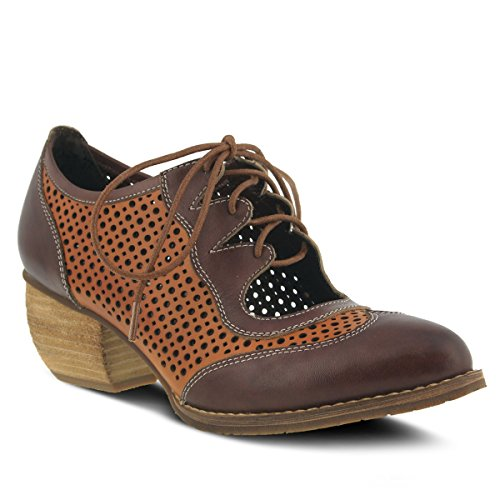 Brown Multi Colors Blue Inspired Multi Multi Lace Shoe Gabriel French Design Brown and Black up YqnZztvg